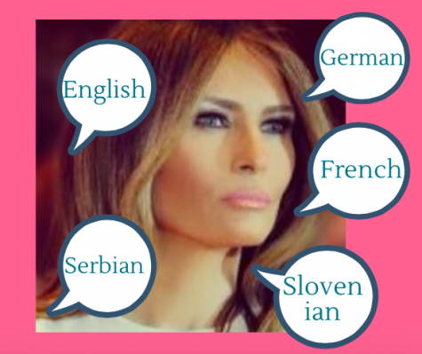 Melania Trump attended The University of Ljubjana, where she learned some of these languages.