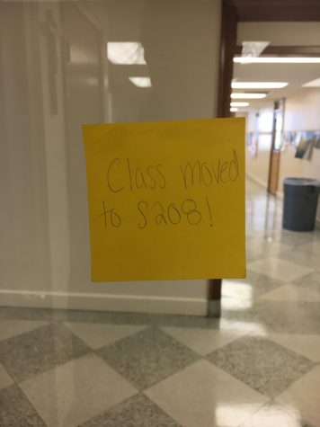 "Maddy Ruppel expresses, ""I strongly dislike moving classes, especially when it is moved to a classroom across the campus."""