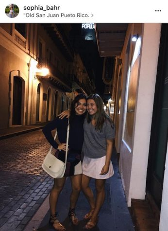 "Caption: Bahr says, ""At night, we would go into Old San Juan for dinner which is such a quaint little town."" Credit: Sophia Bahr/Achona Online"