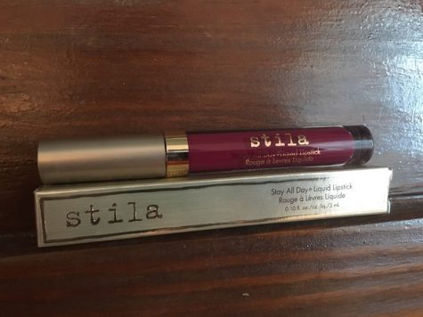 "Keri Kelly says, ""This is a Stila liquid lipstick in the shade 'bacca'. It's a nice winter burgundy, it smells like frosting, it doesn't budge off your lips all day long, and it's a cheaper alternative to a Kylie Jenner lip kit."" (Kylie Jenner lip kits are $29.00 + shipping)"