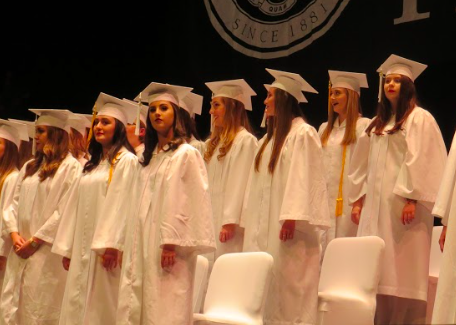 The traditional white cap and gown has been used at all AHN graduations. Photo Credit: Sara Phillips/AchonaOnline