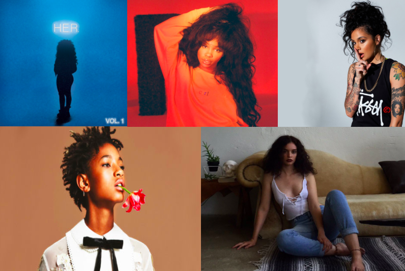 Whitney+Houston%2C+Beyonc%C3%A9%2C+Jill+Scott%2C+and+Alicia+Keys+are+some+of+the+top+female+R%26B+artists.