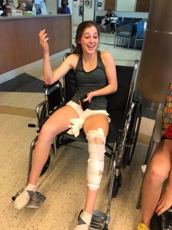 Senior Gabby Hogan Gets Injured at Track Meet