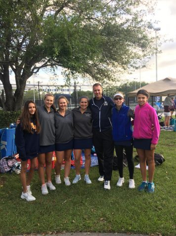 Tennis Celebrates District Runner Up Finish
