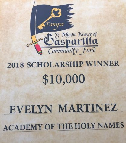 Evelyn Martinez Wins Gasparilla Community Fund Scholarship