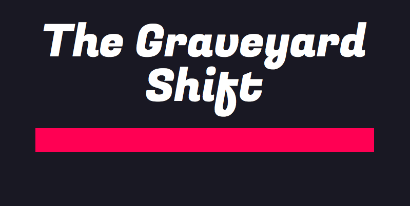 The+Graveyard+Shift+premiere+is+at+7%3A30+p.m.+at+the+Scarpo+Theatre.