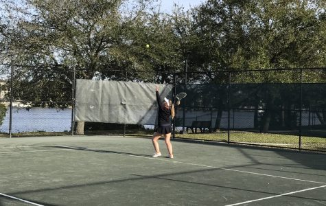 Academy Athletes Try Out for the Tennis Team