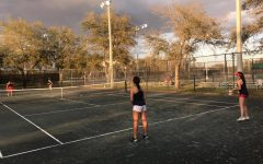 The Tennis Team Plays Against Carrollwood Day School