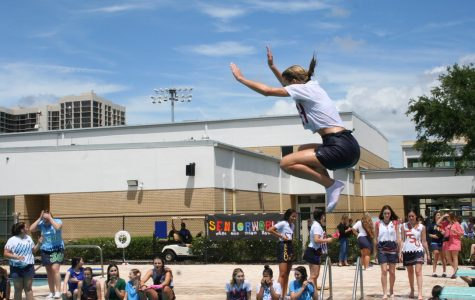 Seniors Jump into their Last Day of School with the Running of the Halls and Senior Pool Party